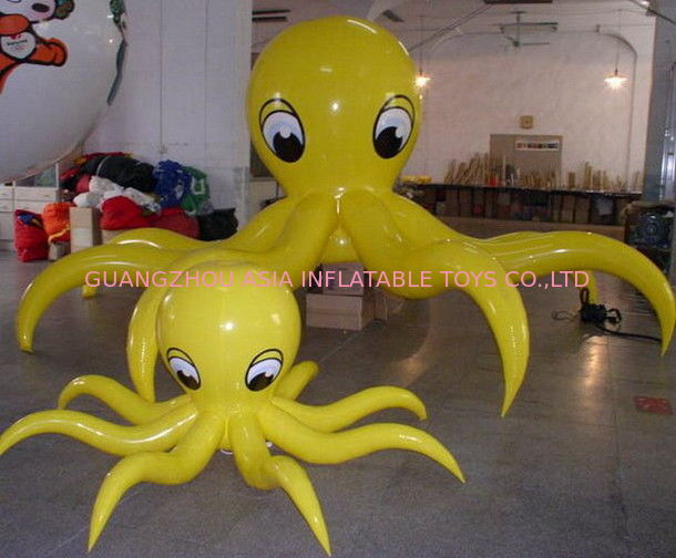 Popular lovely octopus inflatable balloon, inflatable helium blimp